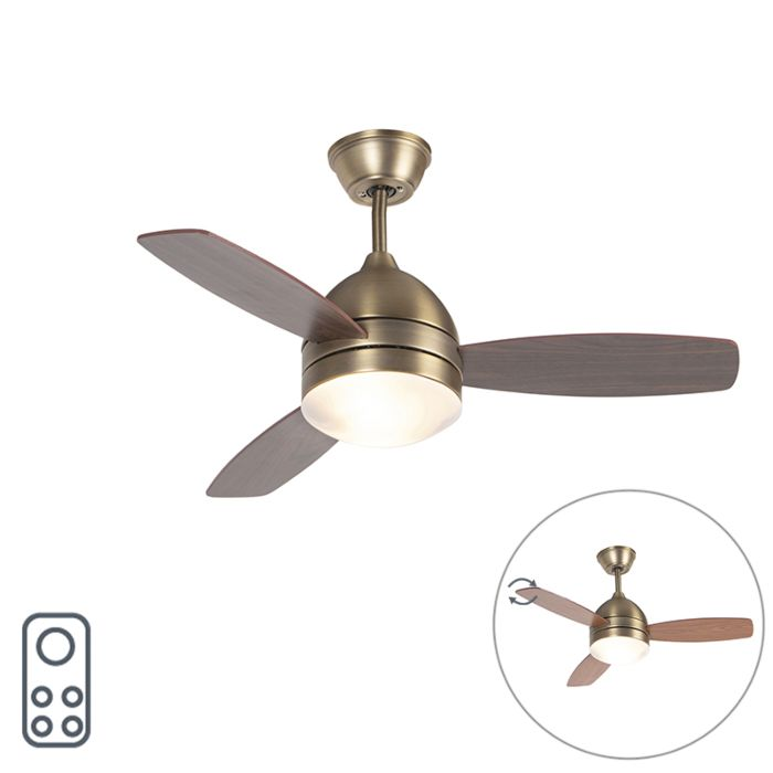 Plafondventilator-brons-met-afstandsbediening---Rotar