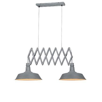 Industriële-hanglamp-staal-2-lichts-verstelbaar---Mancis