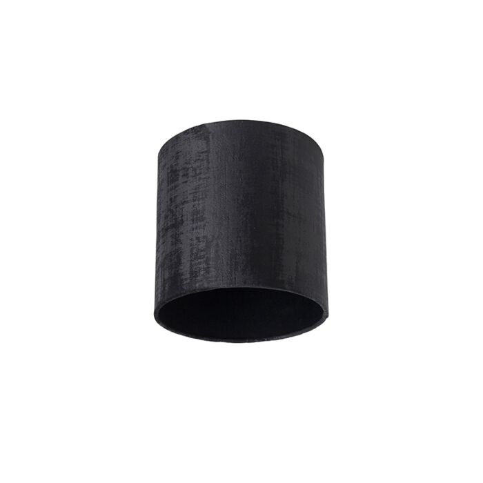 Velours-lampenkap-zwart-20/20/20