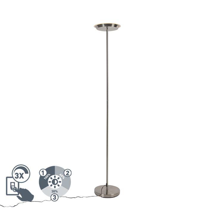 Vloerlamp-staal-3-staps-dimbaar-incl.-LED-en-touch-dimmer---Pondi