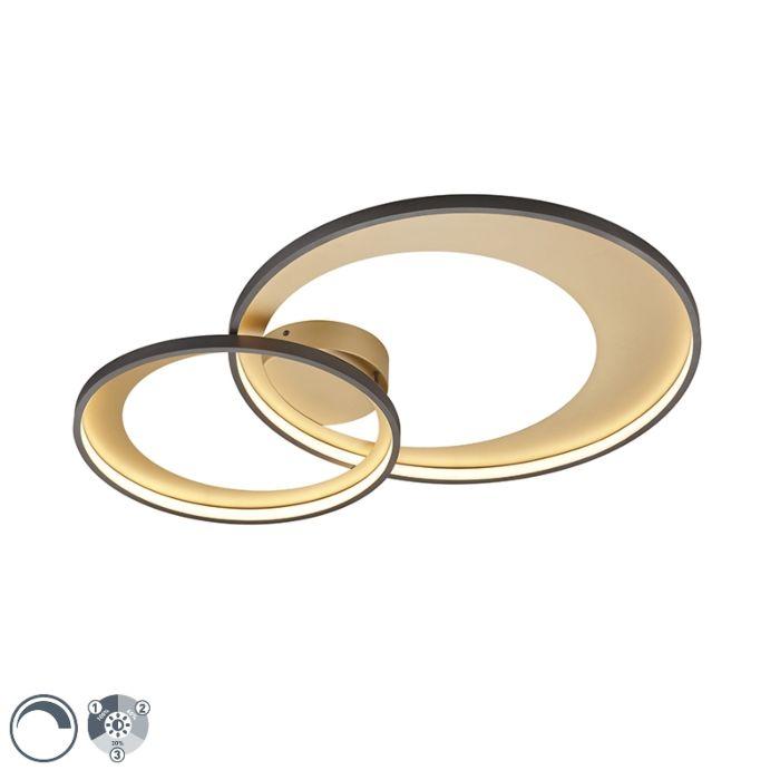 Plafondlamp-zwart-85-cm-Incl.-LED-3-staps-dimbaar---Anita
