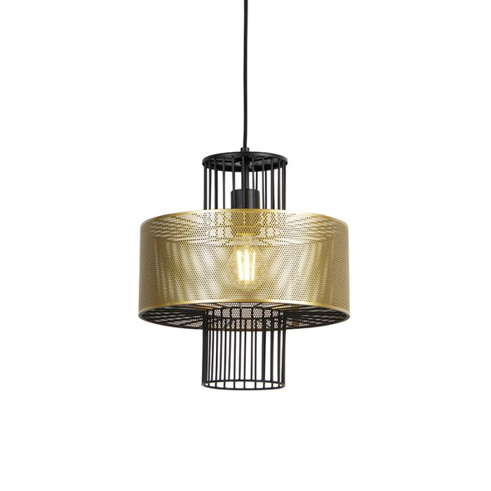 Design-hanglamp-goud-met-zwart-30-cm---Tess