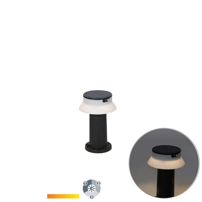 Buitenpaaltje-zwart-33-cm-incl.-LED-solar-3000-6500K---Felice