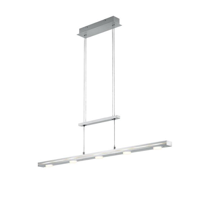 Hanglamp-staal-incl.-LED-met-touch-3-staps-dimbaar---Sanne