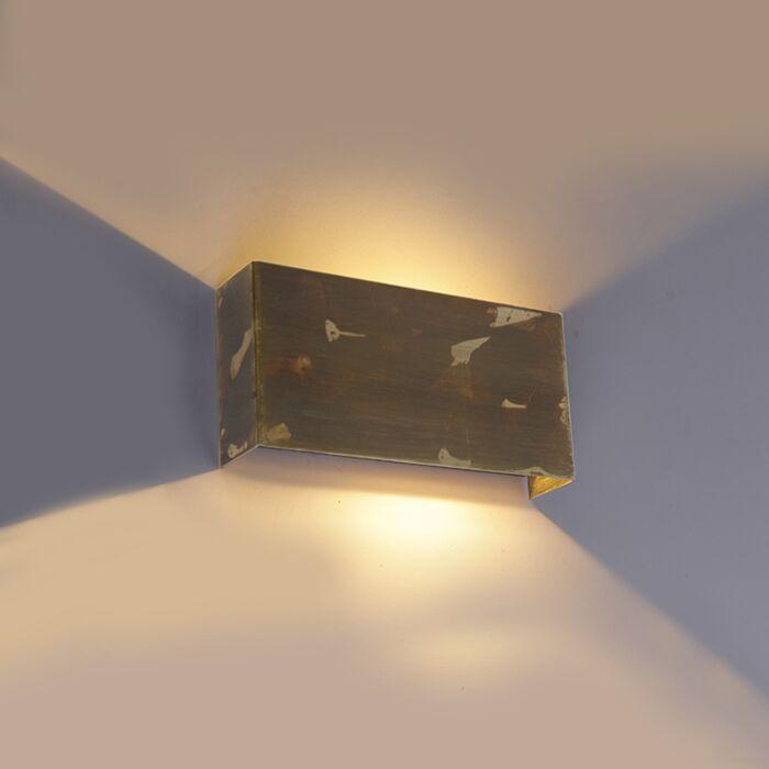 Industriële-wandlamp-goud-2-lichts---Justin