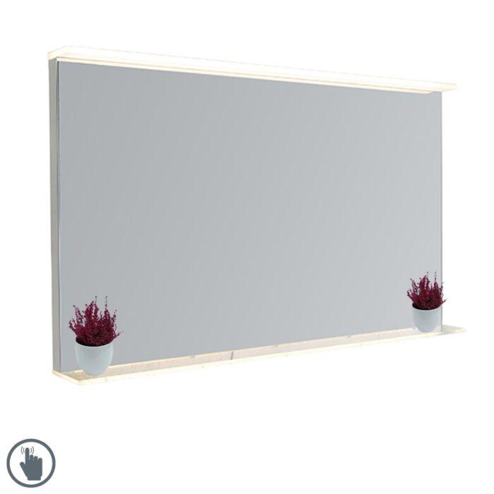 Moderne-badkamerspiegel-60x100-cm-incl.-LED-met-touch-dimmer-en-plateau---Miral