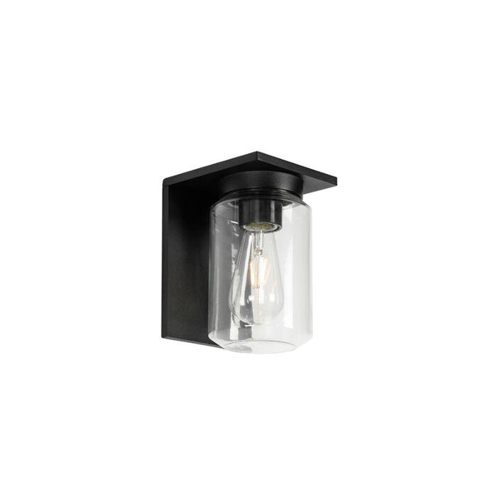 Moderne-wandlamp-zwart-IP54---Marshall