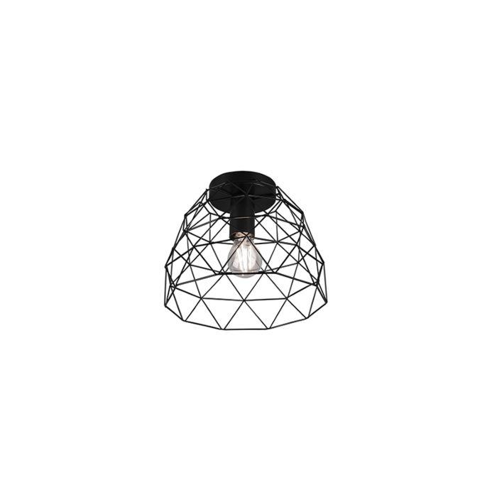 Moderne-plafondlamp-zwart-27-cm---Jaap