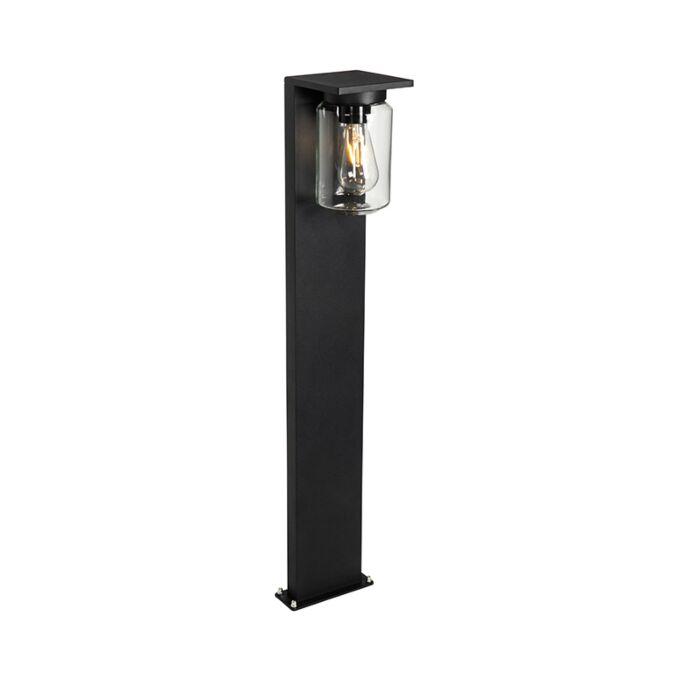 Modern-staande-buitenlamp-zwart-90-cm-IP54---Marshall
