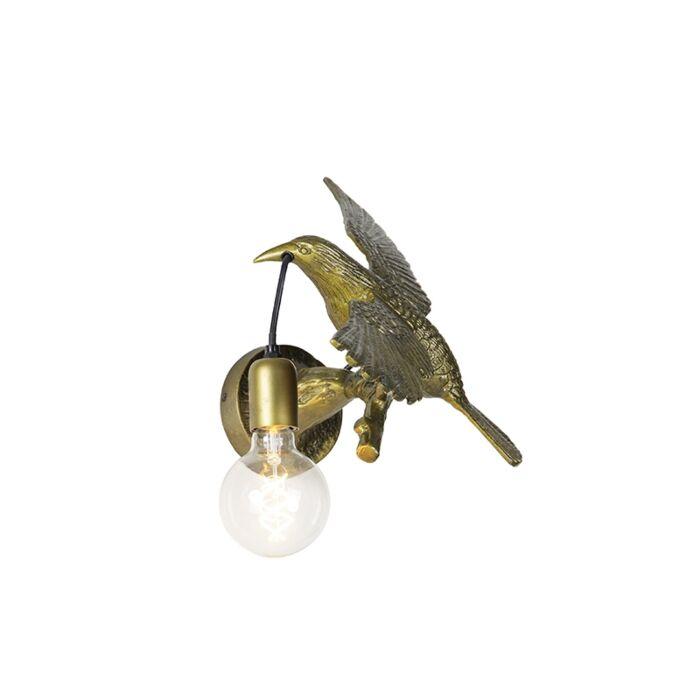 Vintage-wandlamp-messing---Animal-Fugl