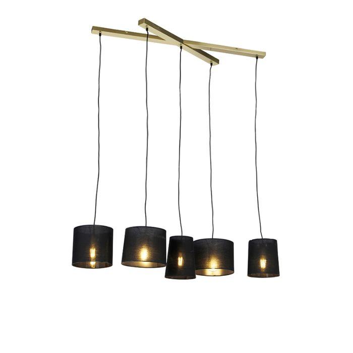 Landelijke-hanglamp-messing-5-lichts---Hermina