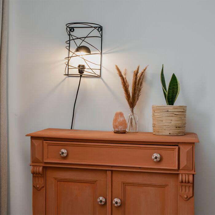 Design-wandlamp-zwart---Spira