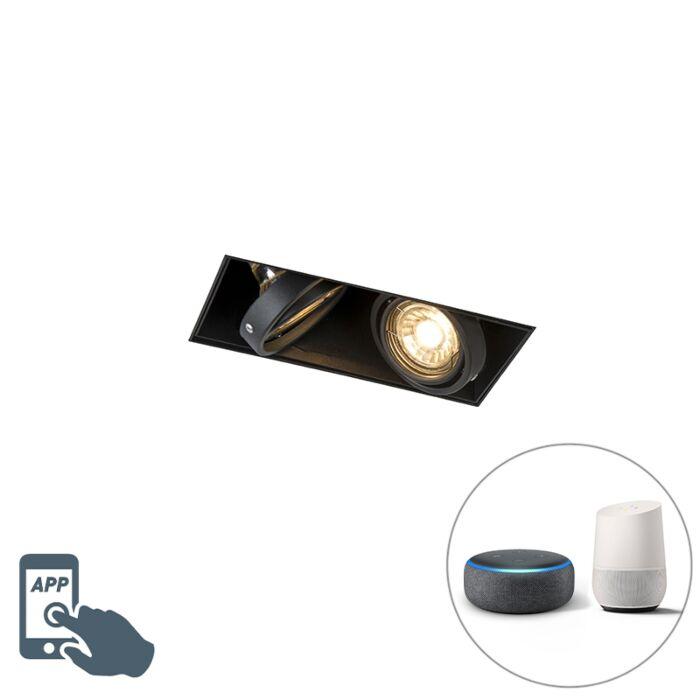 Smart-inbouwspot-zwart-incl.-2-Wifi-GU10-trimless---Oneon-2