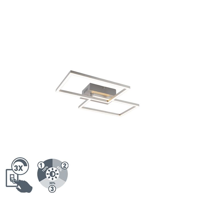 Plafondlamp-staal-incl.-LED-3-staps-dimbaar---Plazas-Novo