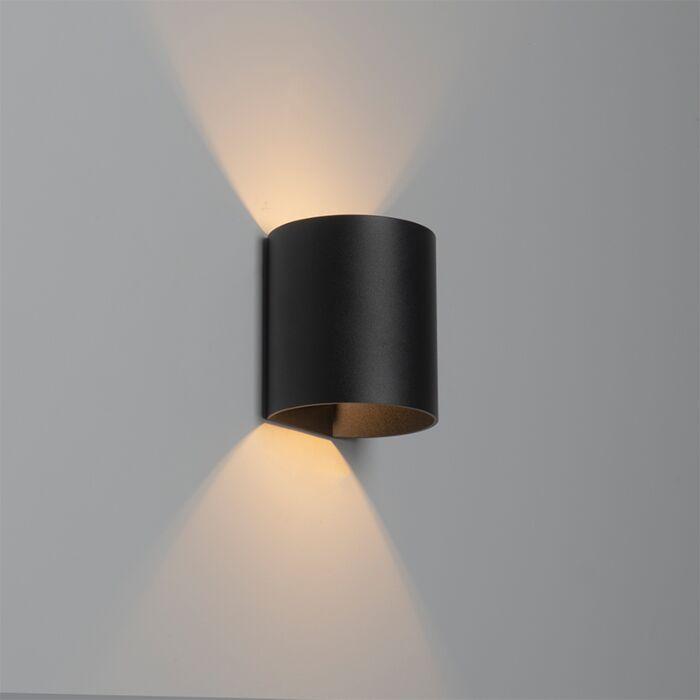 Moderne-wandlamp-zwart---Sabbio