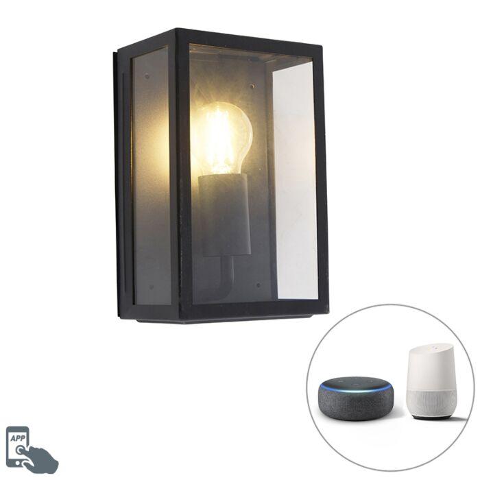 Smart-buitenwandlamp-zwart-incl.-WiFi-A60-IP44--Rotterdam-2