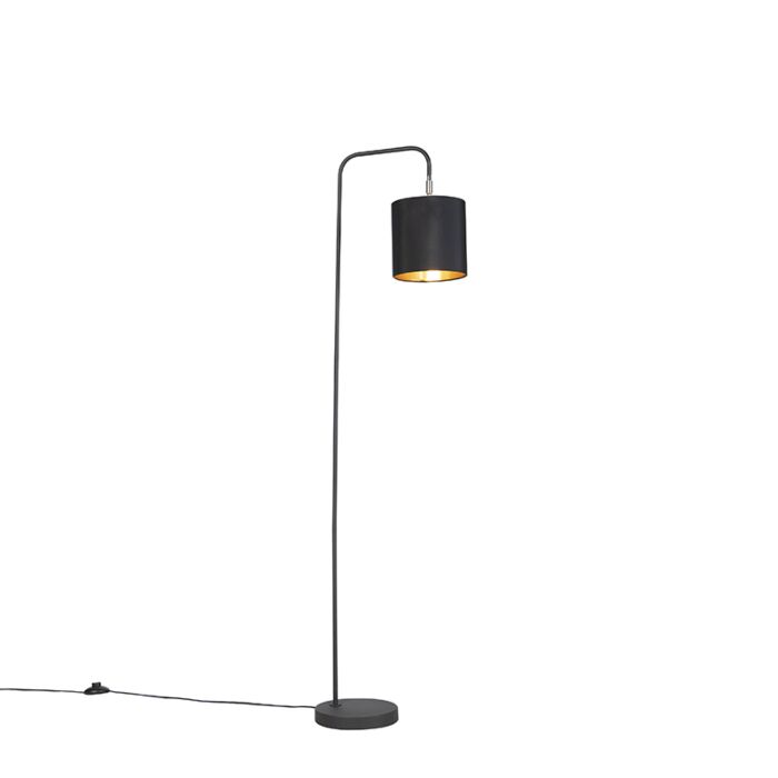 Smart-vloerlamp-zwart-incl.-wifi-A60-lichtbron---Lofty