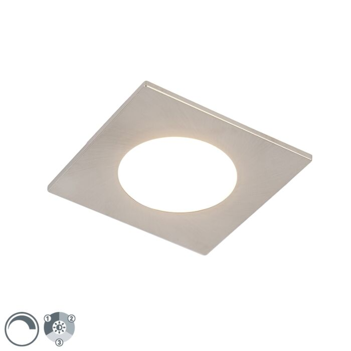 Moderne-inbouwspot-staal-incl.-LED-3-staps-dimbaar-IP65---Simply