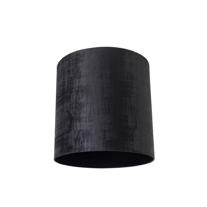 Velours-lampenkap-zwart-40/40/40