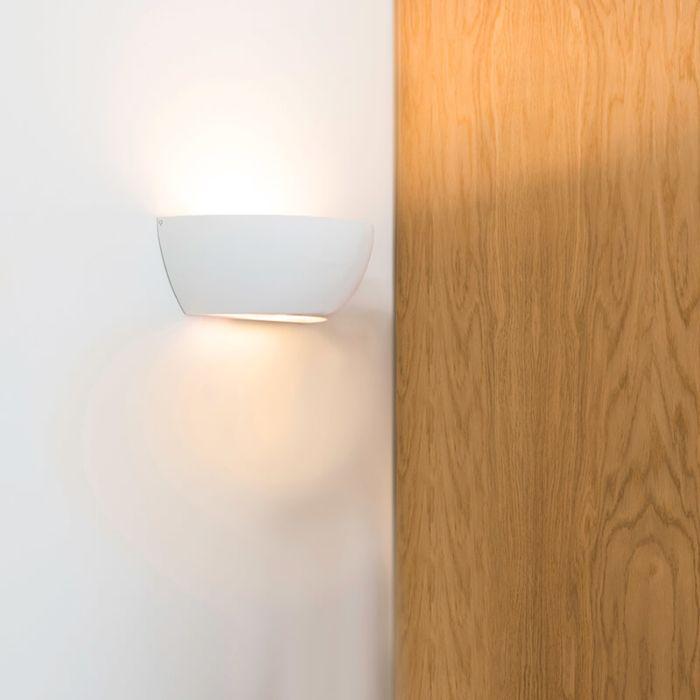Moderne-wandlamp-wit---Gypsy-Tum