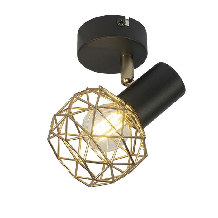 Design-spot-zwart-met-goud-verstelbaar---Mesh
