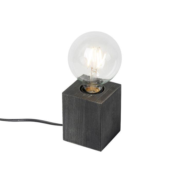 Landelijke-tafellamp-zwart---Bloc