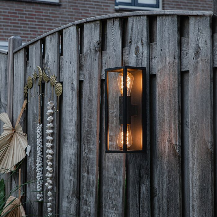 Industriële-wandlamp-zwart-38-cm-2-lichts-IP44---Charlois