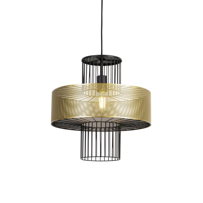 Design-hanglamp-goud-met-zwart-40-cm---Tess