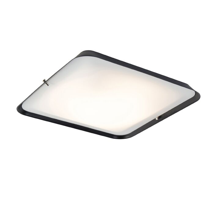 Moderne-plafondlamp-zwart-34,5-cm-incl.-LED---Edor