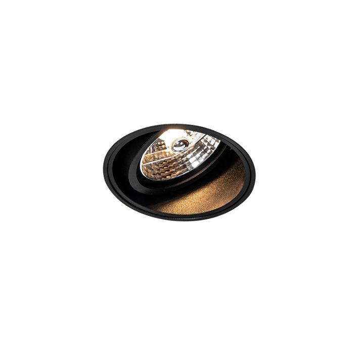 Moderne-inbouwspot-zwart-trimless---Impact-70