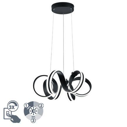 Design-hanglamp-zwart-3-staps-dimbaar-incl.-LED---Filum
