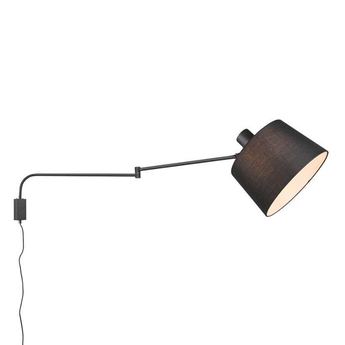 Wandlamp-zwart-verstelbaar-met-schakelaar---Chantal