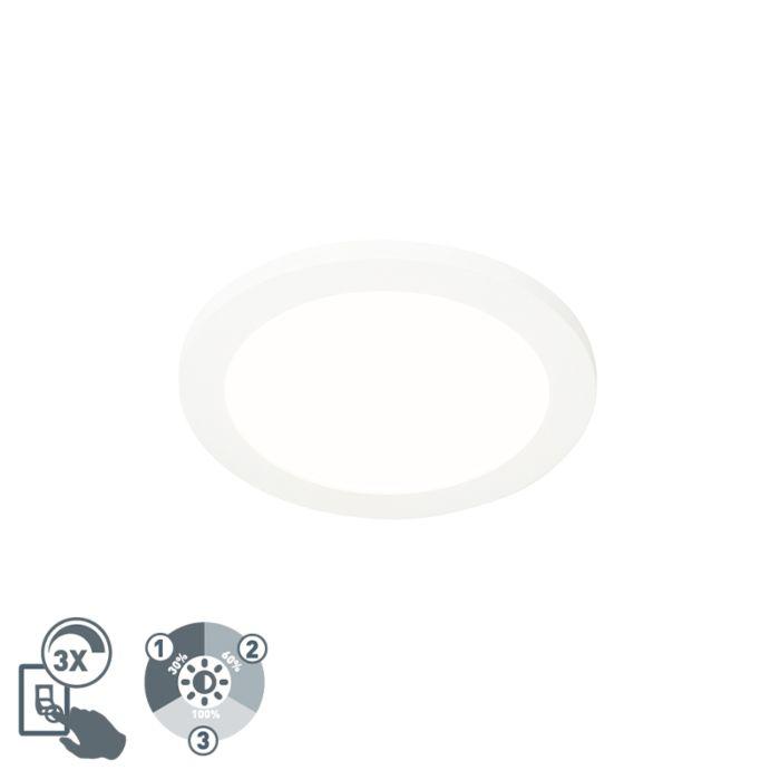 Plafonnière-wit-22,5-cm-incl.-LED-3-staps-dimbaar-IP44---Steve