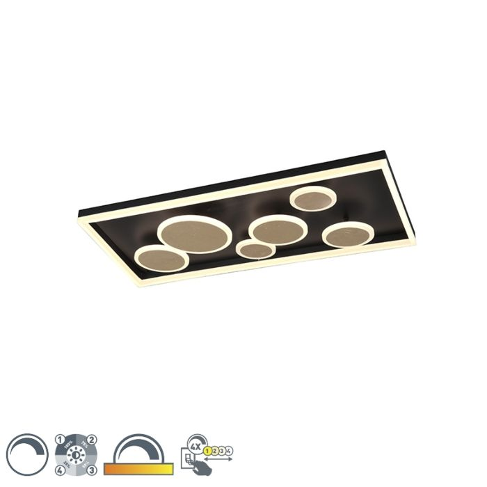 Plafondlamp-zwart-80-cm-incl.-LED-3-staps-dimbaar---Nicky