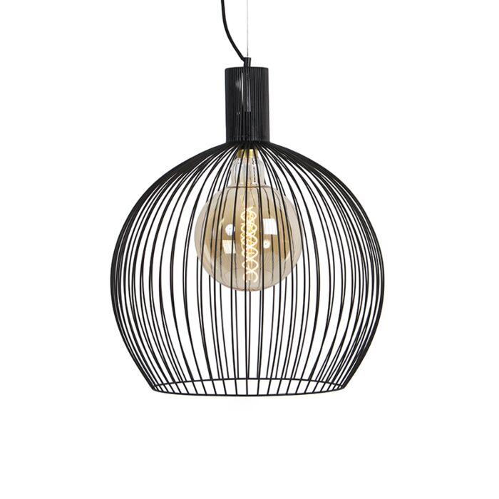 Design-ronde-hanglamp-zwart-50-cm---Dos