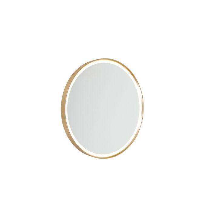 Moderne-wandlamp-goud-incl.-LED-IP44-met-spiegel---Miral