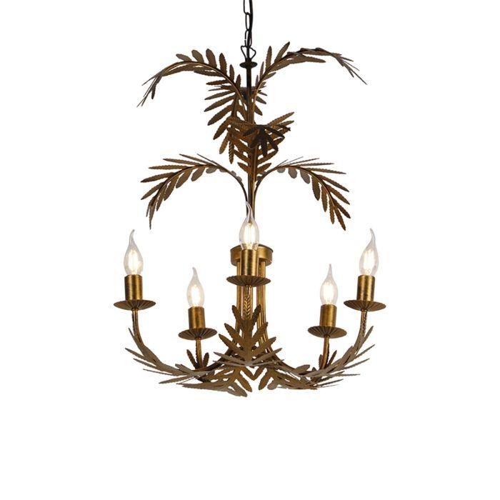 Vintage-kroonluchter-goud-5-lichts---Botanica