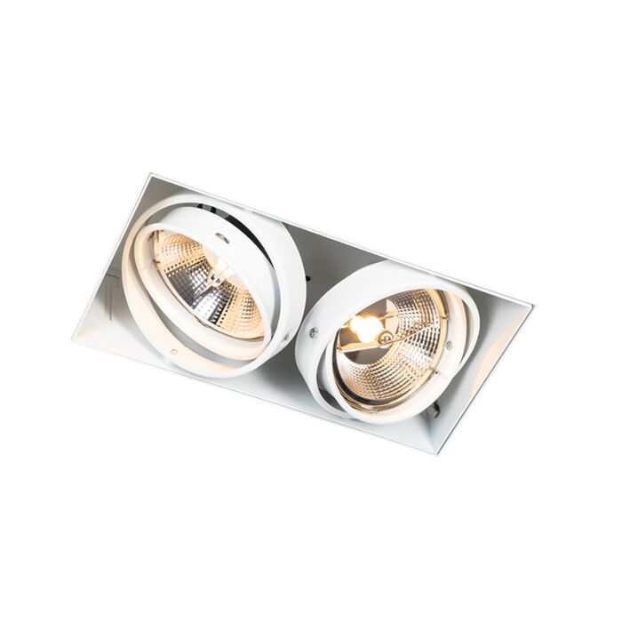 Inbouwspot-wit-GU10-AR111-trimless-2-lichts---Oneon