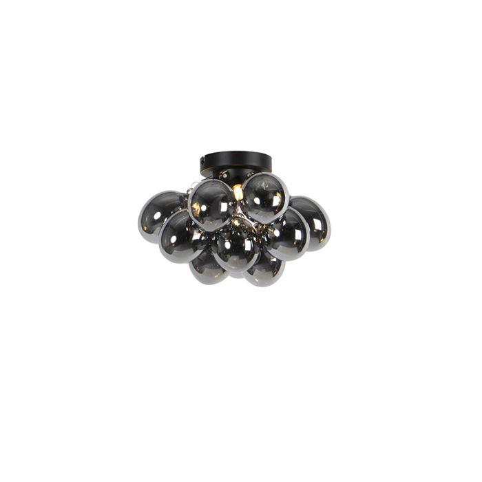 Design-plafondlamp-zwart-met-smoke-glas-3-lichts---Uvas