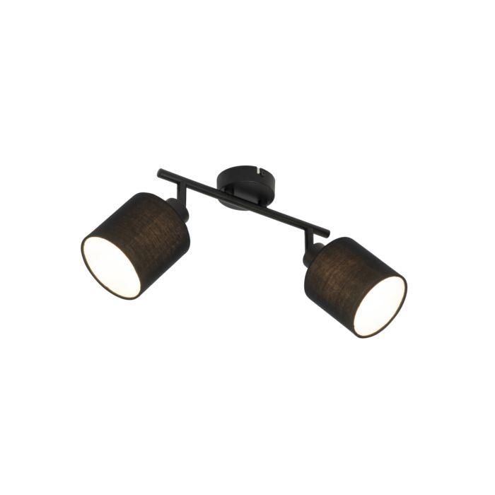 Plafondspot-zwart-met-zwarte-kap-2-lichts-verstelbaar---Hetta