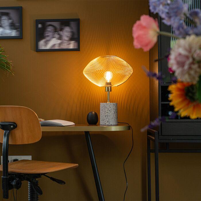 Design-tafellamp-terrazzo-met-messing---Ella