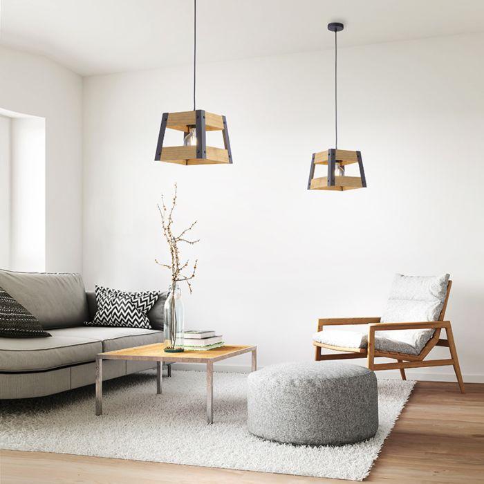 Industriële-hanglamp-zwart-met-hout---Krat