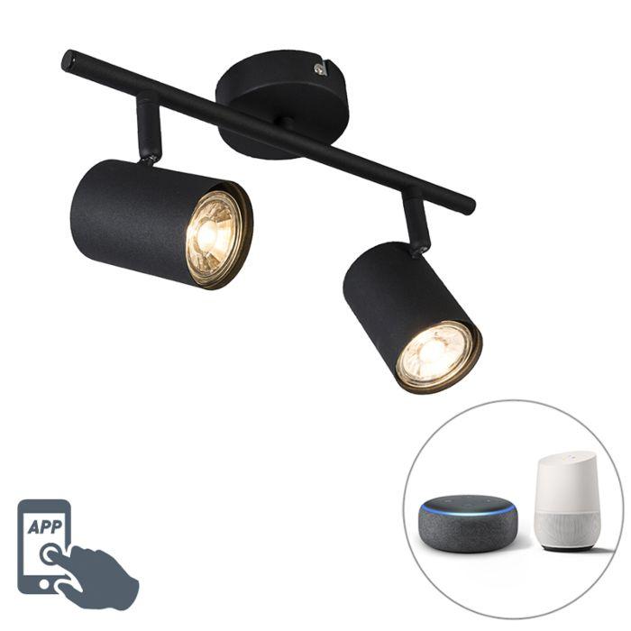 Smart-spot-zwart-kantelbaar-incl.-2-WiFi-GU10---Jeana-2