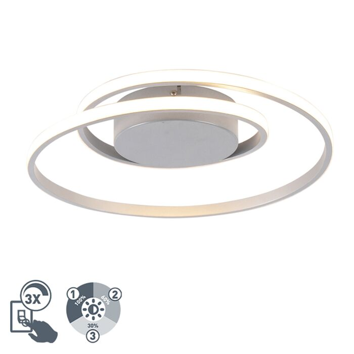 Design-plafonnière-staal-incl.-LED-3-staps-dimbaar---Krula