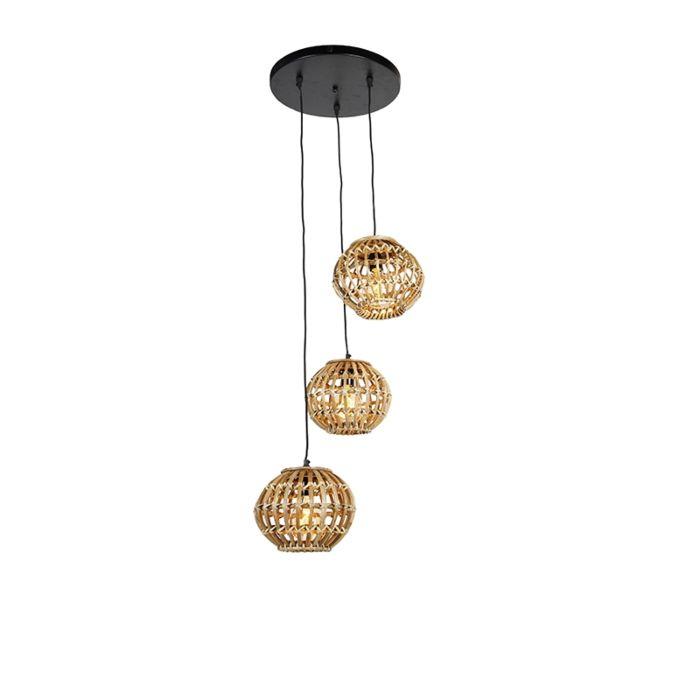 Landelijke-hanglamp-bamboe-rond-3-lichts---Canna