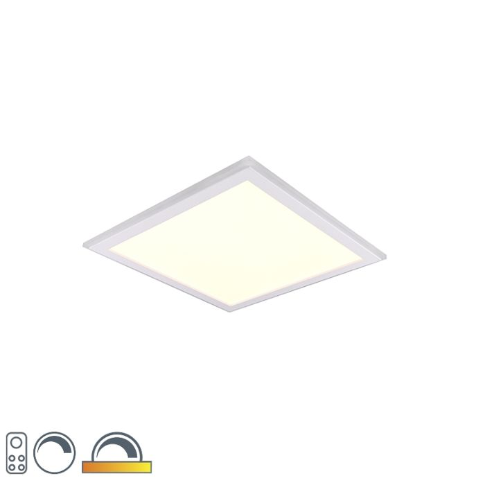 Plafondlamp-wit-45-cm-incl.-LED-RGB-afstandsbediening---Anke