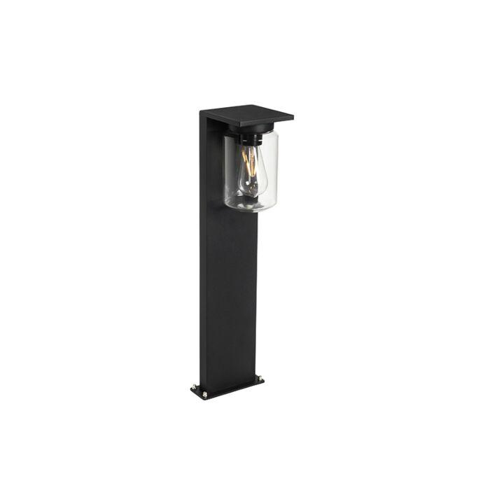 Moderne-staande-buitenlamp-zwart-65-cm-IP54---Marshall