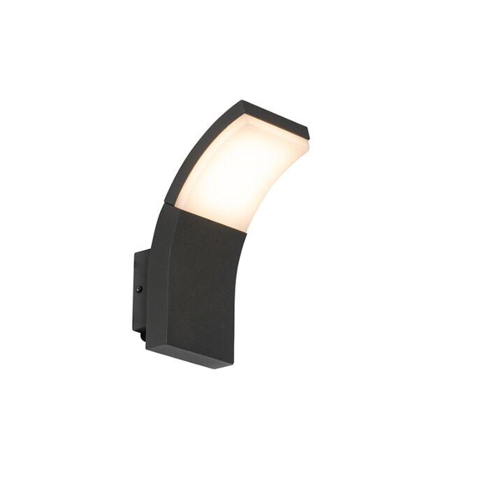 Moderne-buitenwandlamp-antraciet-incl.-LED-IP54---Litt