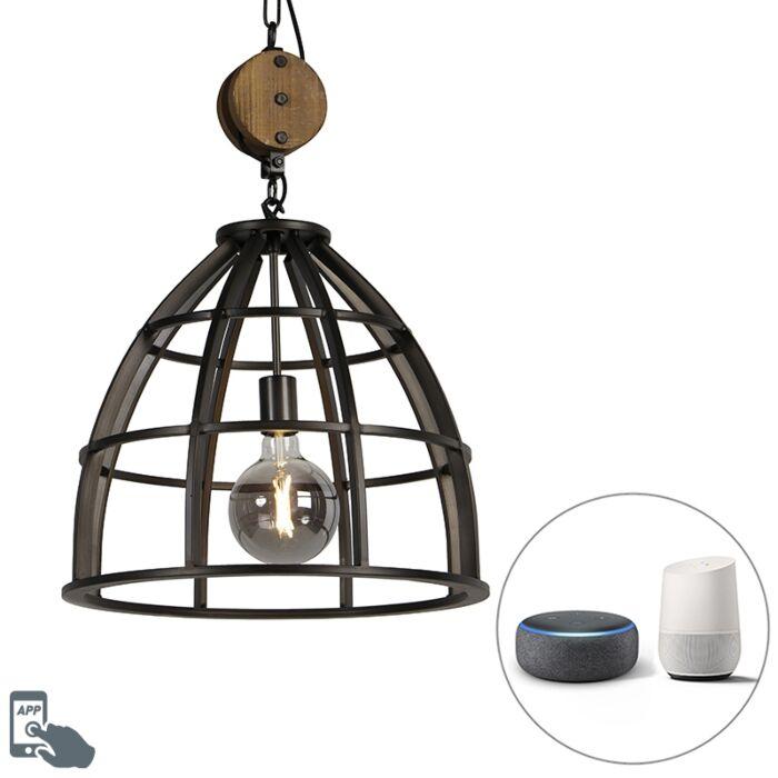 Industriële-smart-hanglamp-zwart-47-cm-incl.-WiFi-G125---Arthur