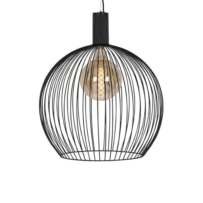 Design-ronde-hanglamp-zwart-60-cm---Dos